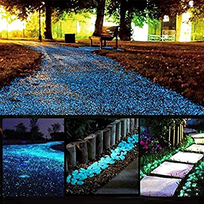 Glow Stone Glowing in the Dark Pebbles Outdoor Decor Fish Tank Walkway Gravel Rocks Decoration