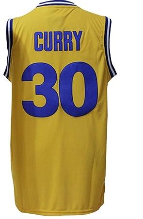 Golden State Warriors 30 Stephen Curry personalizada Amarillo camiseta para hombre Talla XL: Amazon.es: Deportes y aire libre