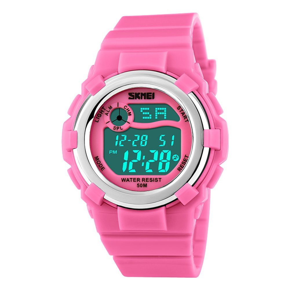 Digital Quartz Waterproof Outdoor Watch for Girls Chronograph by Gobeaf