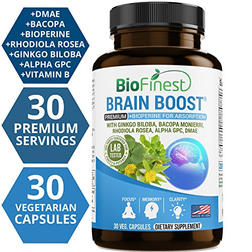 Performance Supplements Advanced (Biofinest Advanced Brain Booster Supplement - Memory, Focus and Clarity Formula - Nootropic Pills for Optimal Performance, Mood and Anti Anxiety, Stress Relief and Relax (30 Capsules))