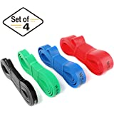 WSAKOUE Pull Up Bands, Resistance Bands, Pull Up Assist Band Exercise Resistance Bands for Body Stretching, Powerlifting…