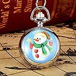 Christmas Pocket Chain Watch Malltop Unisex Vintage Necklace Quartz Numerals Watch for Children festival Gift Style C