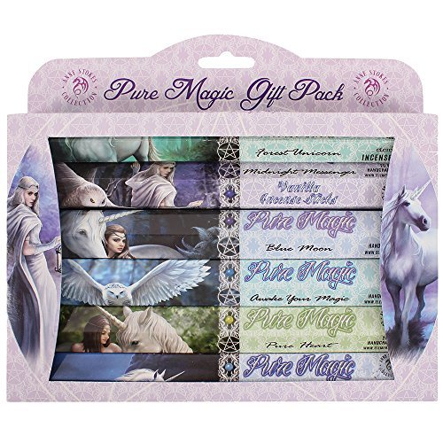 Pacific Giftware Fantasy Artist Anne Stokes Pure Magic Aromatic 120 Incense Sticks Gift Pack Assortment (6 Tubes x 20 Incense (Incense Stick Display Pack)