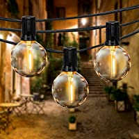 Guirnaldas Luminosas de Exterior y Interior, FOCHEA 6.8M Cadena de Luz con 16 Globe Bombillas IP44 Impermeable para…