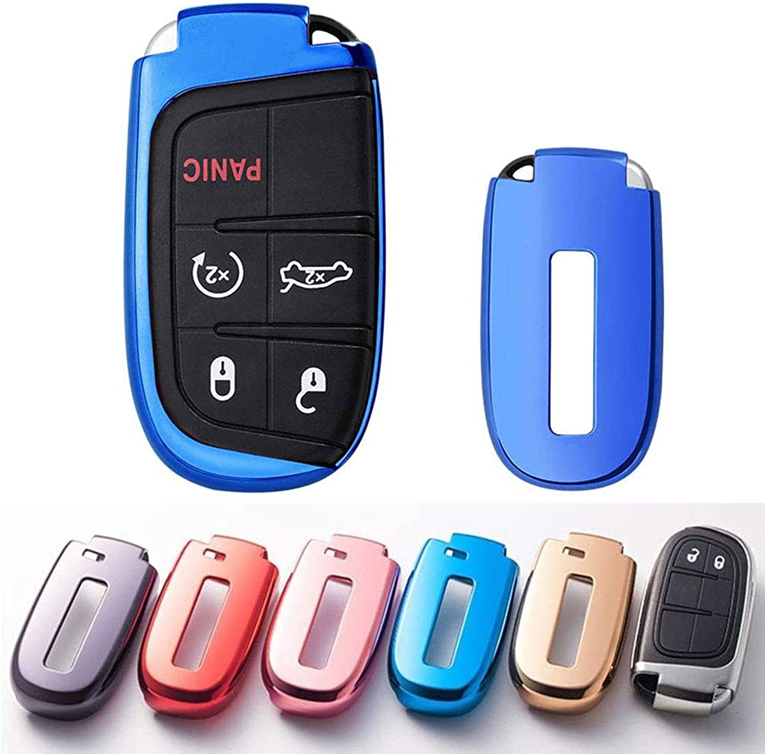 TPU Key Fob Case Holder Glove Cover Protector for Chrysler Dodge Jeep