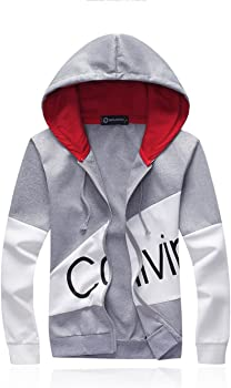 d5ff8cce87b Men Hoodies Teens Jogging Suits Slim Fit Letter Print Sports Suits Track Casual  Hooded
