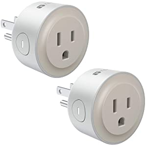 TECKIN Smart Plug, Smart Home Mini WiFi Outlet Compatible with Alexa, Echo&Google Home, Smart Outlet with Remote Control, Timer Function, No Hub Required, FCC/ETL Certified, Grey Outlet 2 Pack