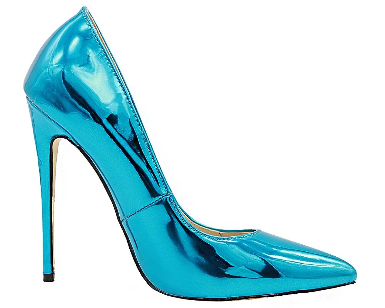 Amazon com MONICOCO Women's Pointed Toe Thin High Heels Patent Dress Party Pumps Shoes Pumps