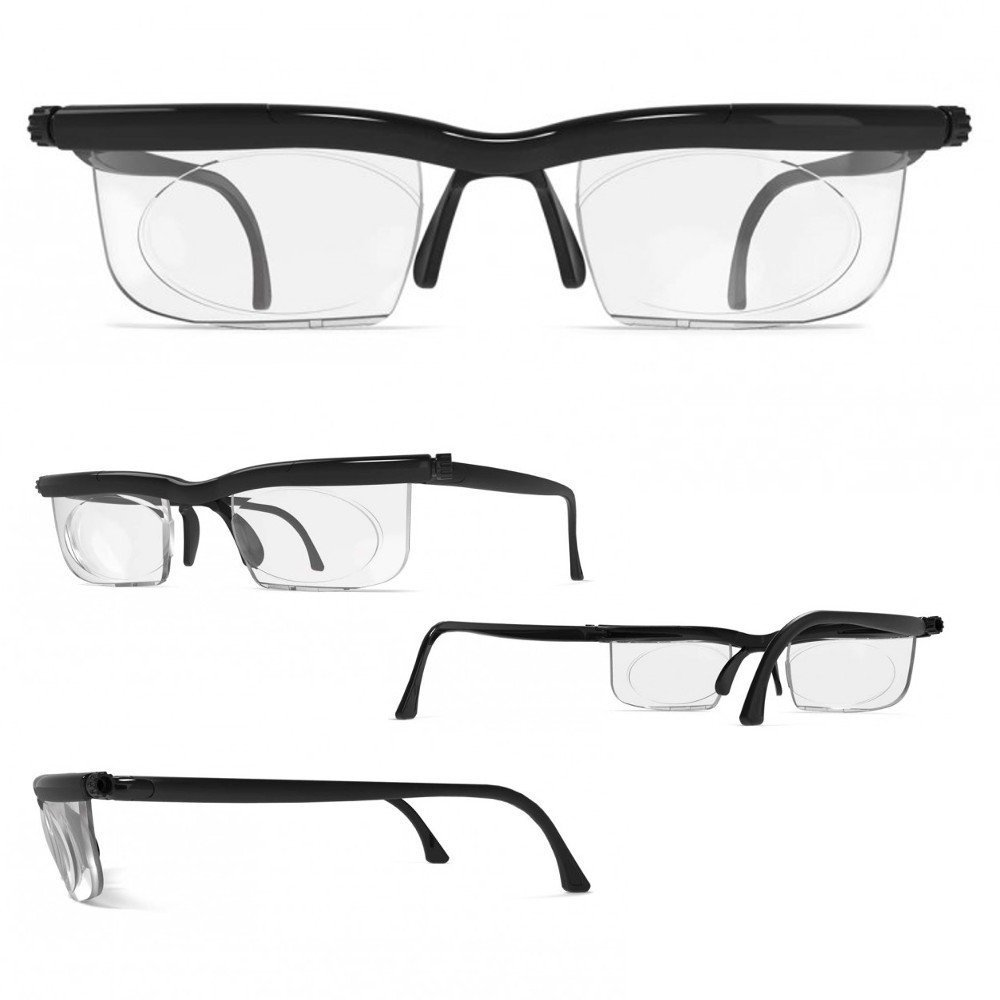 Adlens® Brille mit Dioptrien individuell einstellbar unisex ...