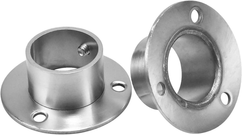 HQdeal Set de 2 Soporte para Cortinas C-32mm Adjustable Soporte Barra Armario con 6 Empulgueras y 6 Tubos de expansi/ón para Barra de Cortina de Ducha de Armario