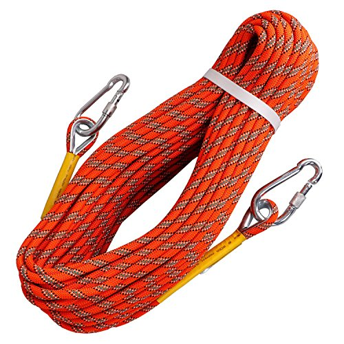 Tresbro Outdoor Rock Climbing Rope Static Fire Rope Escape Safety Survival Rope 10M(32ft) 20M(64ft) 30M (96ft) 50M(160ft) Climbing Rescue Hiking Rope