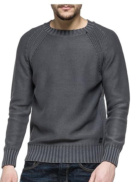 Grigio Grigio Amazon Maglione Uomo it Abbigliamento Replay 8q61v