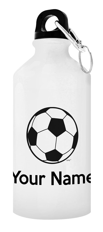 Personalized水ボトルお名前サッカー水ボトルカスタマイズSoccerサッカーアクセサリー贈り物for AdultまたはユースサッカーPersonalized Giftアルミウォーターボトルキャップ&スポーツトップ B076FGRB92 ホワイト 1