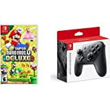New Super Mario Bros. U Deluxe - Nintendo Switch Bundle with Nintendo Switch Pro Controller