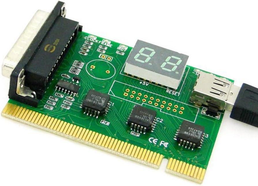 USB PCI LPT Parallel Motherboard Diagnostic Analyzer Test Post Card for Laptop PC EP-032