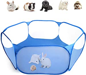 Casifor Guinea Pig Cage Rabbit Cage with Mat Playpen Perfect Size for Small Animal Pet Play Pen Exercise Yard Fence Portable Tent for Hamsters, Hedgehog, Puppy, Cats