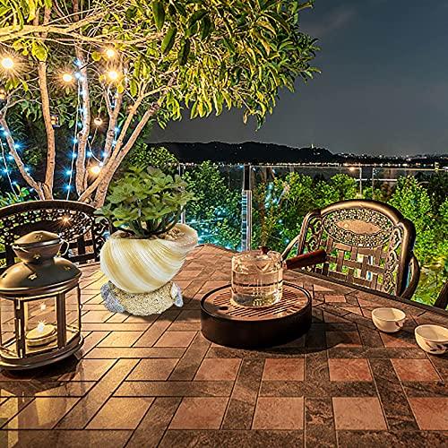 Mortilo Personalized Conch/Retro Radio Camera Resin Flowerpots Planter, Mini Creative Flower Pot Garden Home Crafts Ornaments, Outdoor Indoor Spaces Great Gift for Home Garden Decor (A)