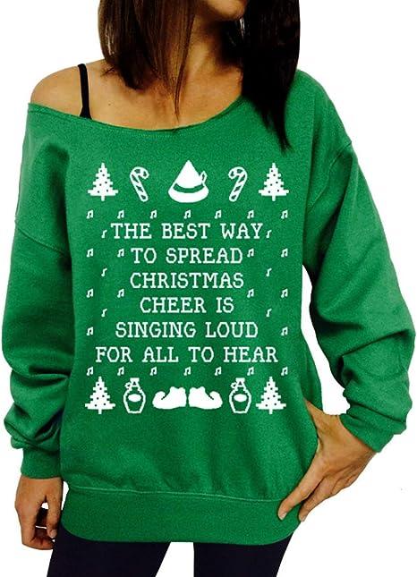 Siennaa Weihnachten Damen Pullover, Teenager Mädchen