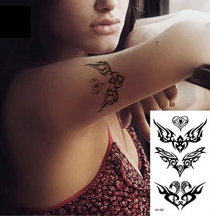 ruofengpuzi Adesivo tatuaggioBody Art Beauty Negro Blanco ...