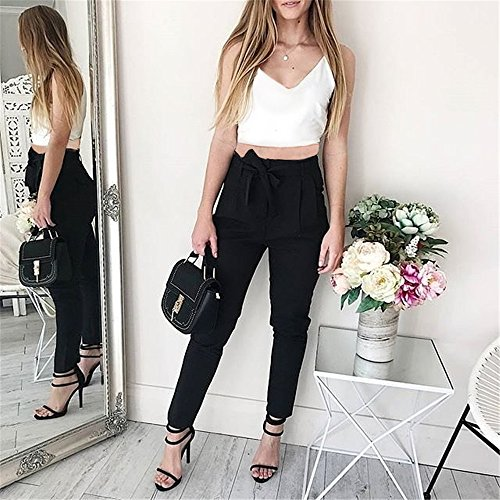 Fashion Black Camisole with Long Classic Pieces 2 Pant Microfibre Women Belt vH1xrXv