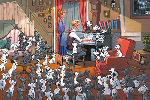 Hand Signed Giclee Canvas - 101 Dalmatians: