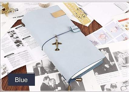 VQEWZ Cuaderno Cuaderno De Apuntes De Cuero Genuino De ...