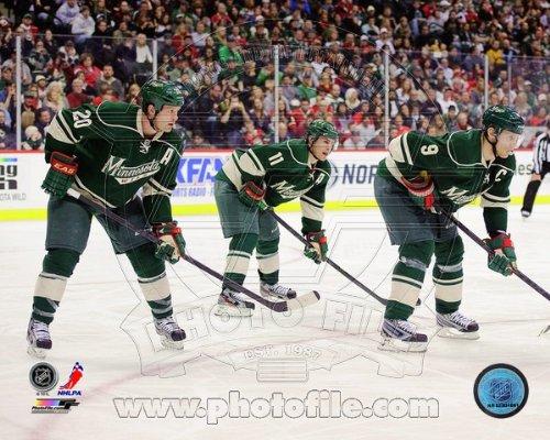 Ryan Suter, Zach Parise, & Mikko Koivu Minnesota Wild 2013 NHL Action Photo 8x10