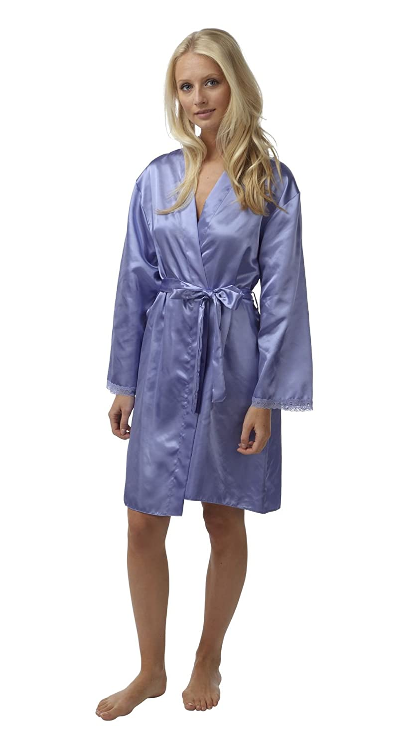BHS Womens/Ladies Nightwear/Sleepwear Satin Long Sleeve Bathrobe ...