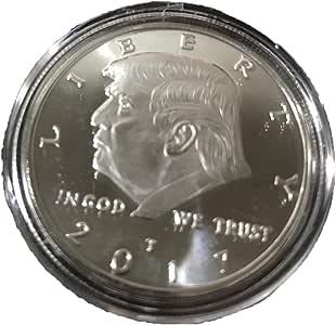 AmaMary Monedas conmemorativas de Trump, 2017 Plateado Plata ...
