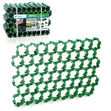 Rasengitter Reitplatzplatten Rasenwaben Gehwegplatten 50x50x4 cm Rasenmatte