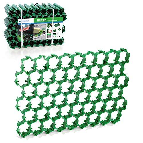 5 Stück (1,1 m²) Rasengitter Paddockplatte Reitplatzmatten Rasenmatten Rasenwaben Paddock Kunststoff Rasensteine grün 5 Stück (1 4U-Onlinehandel
