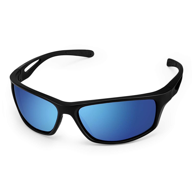 CHEREEKI Gafas de Sol Deportivas, Gafas de Sol Deportivas Polarizadas con Proteccion UV400 & Marco TR90 Irrompible. para Hombre y Mujer, Deportes al Aire Libre, Pesca, Ski, Conducción, Golf product image