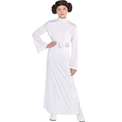 Costumes USA Star Wars Princess Leia Costume for Girls, Includes a Dress with a Hood, a Wig, and a Belt: Clothing