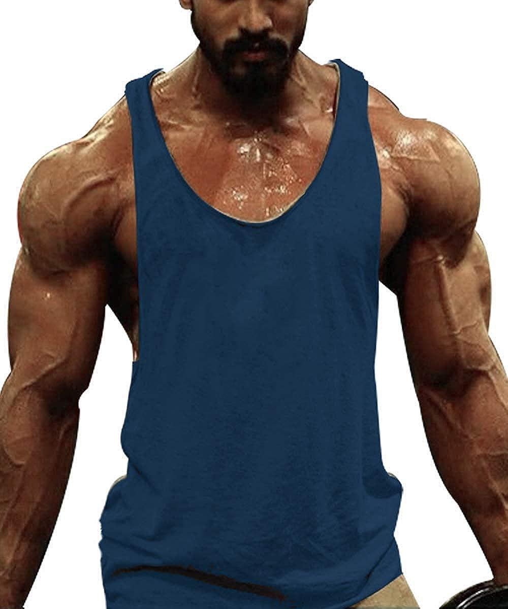 Burlady Tank top 3er Pack Herren Classic Y-Back Unterhemd Feinripp einfarbiges Kompressionstop Achselshirts Atmungsaktiv Rundhals Fitness Bodybuilding T Shirts