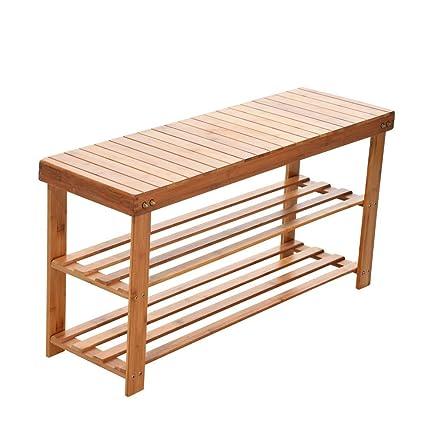 Incredible Amazon Com Gxok Shoe Cabinet Bamboo Stool Shoe Cabinet Shoe Beatyapartments Chair Design Images Beatyapartmentscom