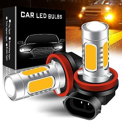yifengshun 2pcs SUPER Bright Amber 6500K H11/H8 LED Bulbs for Fog Lights 7.5W COB Fog Lamp Driving DRL Lights 12V: Automotive