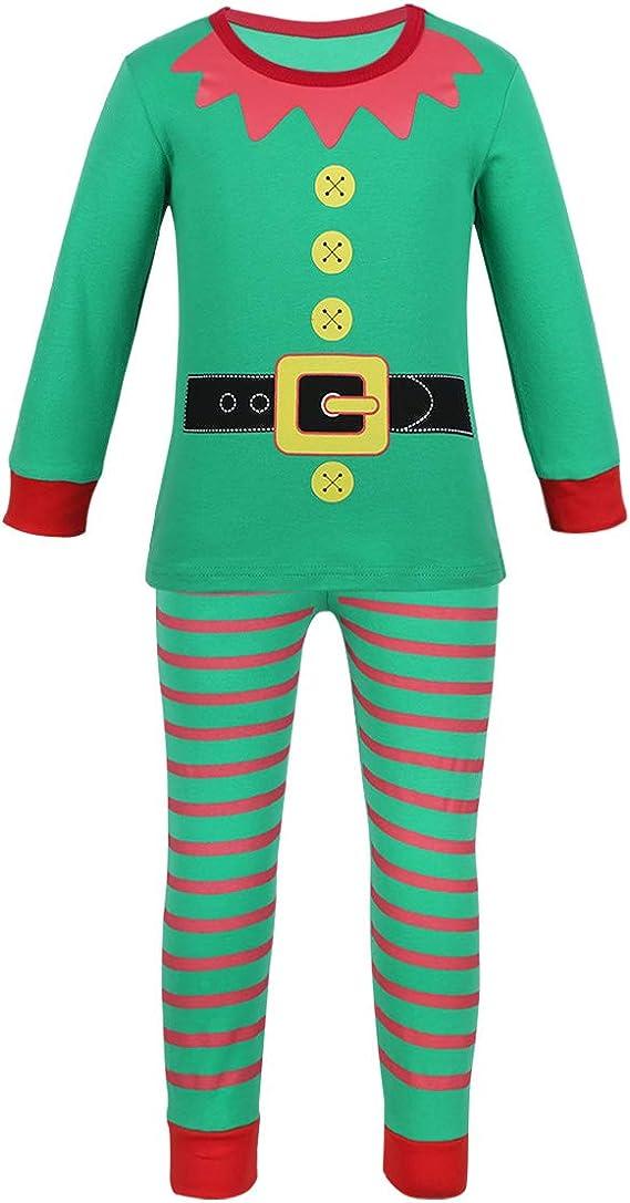MSemis Conjunto Pijamas Navidad para Bebés Disfraz Elfo Niños ...