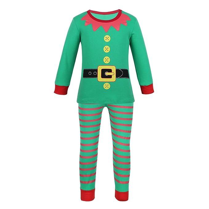 YiZYiF Disfraz Duende Traje Navidad Bebés Niños Niñas Santa Unisex ...