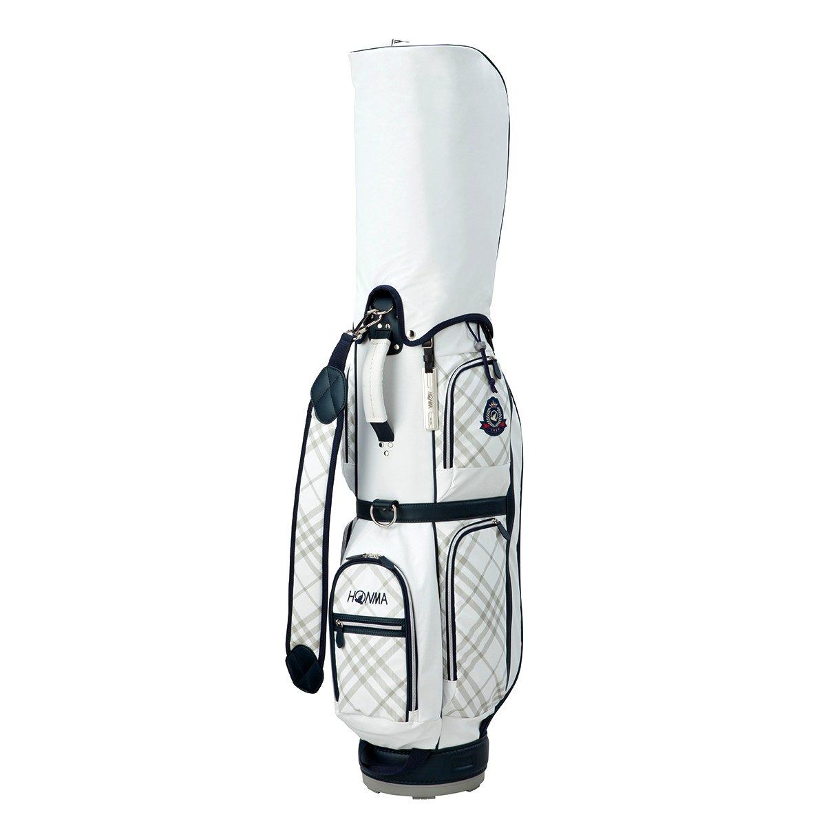 本間ゴルフ HONMA キャディバッグ キャディバッグ CB-6703 レディス B0749GRDKBホワイト