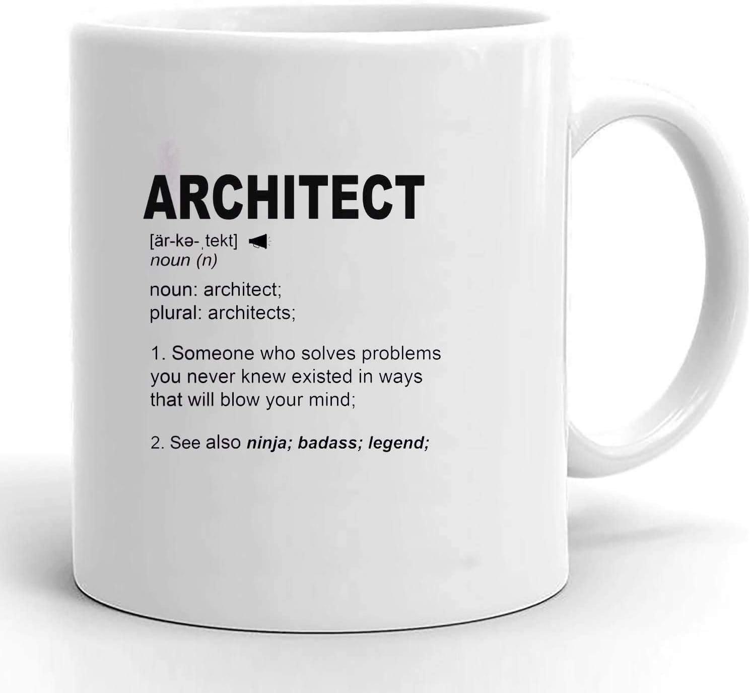 YF-SURINA Idea de regalo de arquitecto Regalos de arquitectura Regalo de arquitecto Hombre para el futuro Arquitecto Estudiante para él Su cumpleaños de graduación Taza personalizada