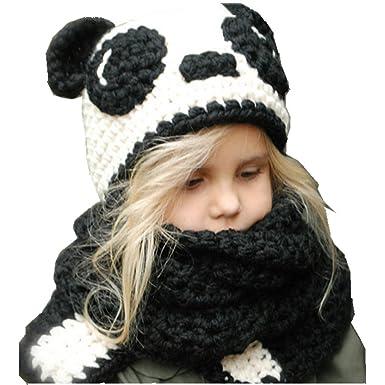 4d78dae21b8d YUANMY Bonnet Enfant Tricot Chapeau en Laine Tour de Cou Bebe Garcon Fille  Écharpe pour Automne