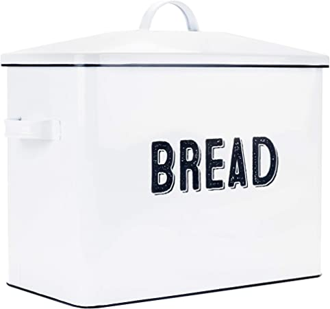 Farmhouse Bread Box For Kitchen Countertop - Extra Large Breadbox