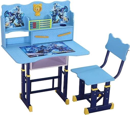 Juegos de mesas y sillas Mesas y sillas de Estudio para niños mesas Elevadoras y sillas Escritorio de Estudiantes y Juego de sillas Escritorio de Estudiantes estantería Simple para el hogar: Amazon.es: