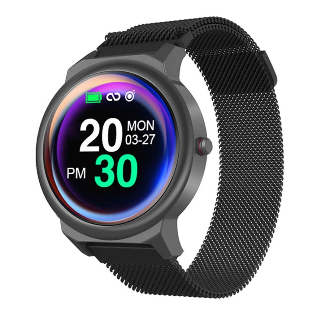 Waterproof Smartwatch for Men Women - Yezijin Heart Rate Smart Bracelet Fitness Tracker Step Counter Sleep Monitor Band Watch for Father Men Kids Youth Teens Boyfriend Lover's Birthday Gift 2019 New by YEZIJIN watch