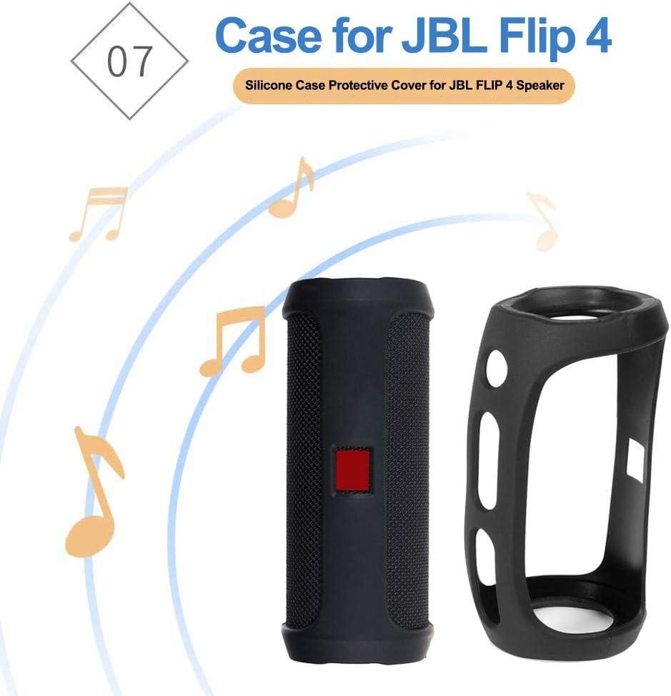 ningxiao586 Kompatibel f/ür jbl flip 4 Lautsprecher silikon case schutzh/ülle
