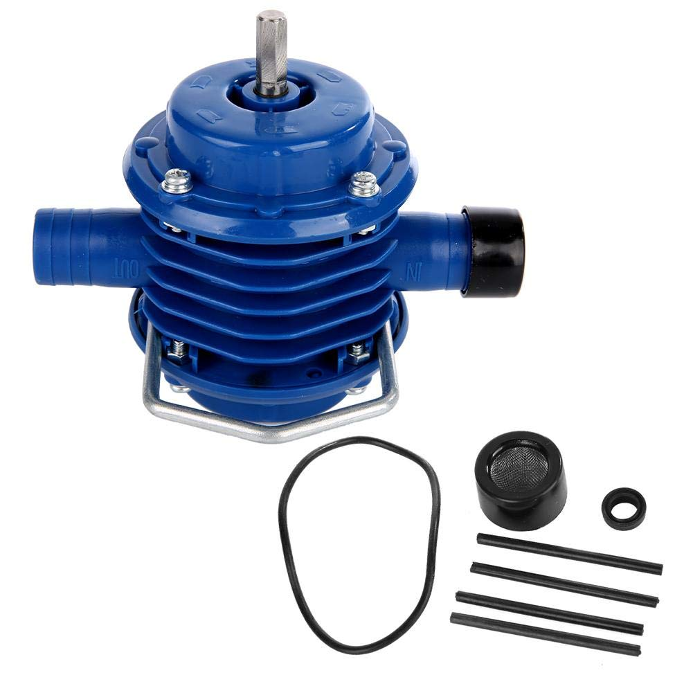 Hand Drill Pump, Mini Self-Priming Engineering Plastics Hand Electric Drill Water Pump J137 for Home Garden