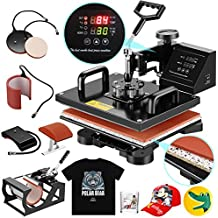 SUNCOO Heat Press Machine Swing Away Digital Sublimation Heat Pressing Transfer Machine for T-Shirt/Mug/Hat Plate/Cap (12x15 (5 in 1))