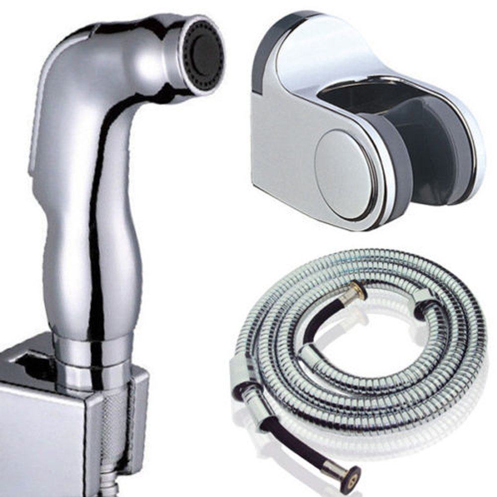 E Support Bathroom Bath ABS Water Saving Bidet Diaper Shower Hand Held  Toilet Spray Shower Heads Nozzle Set     Amazon.com