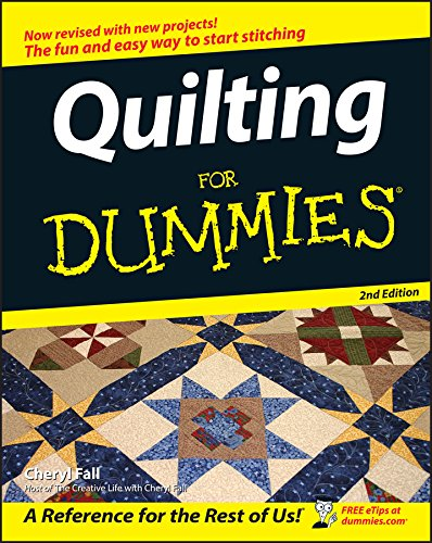 Wiley Publishing WIL-9799X Craft Supplies Publishers-Quilting for Dummies Cheryl Fall Hungry Minds Inc U.S. Quilts & Quilting