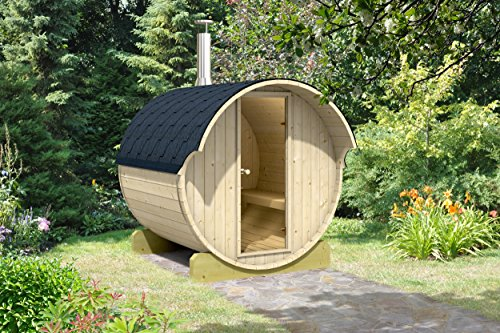 Allwood Barrel Sauna #220-WHC WOOD FIRED HEATER